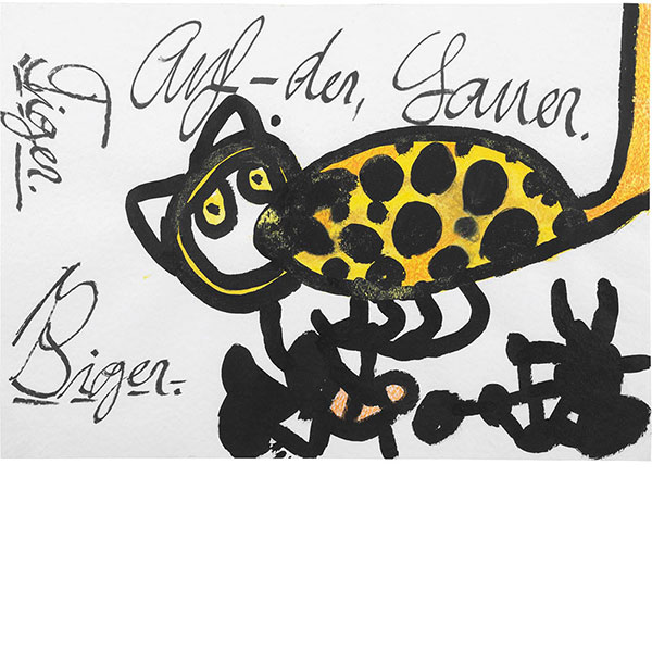 Ida Buchmann, Tiger. Auf-der, Lauer, undatiert