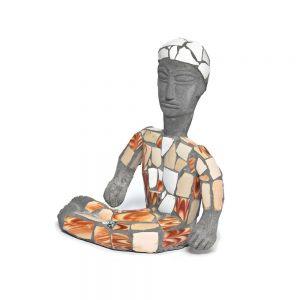 Nek Chand, Figur, ohne Titel, produziert 1997 als Teil einer Gruppe von Skulpturen