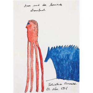 Oswald Tschirtner, Moses und der brennende Dornbusch, 1971